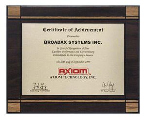 Axiomtek Certificate