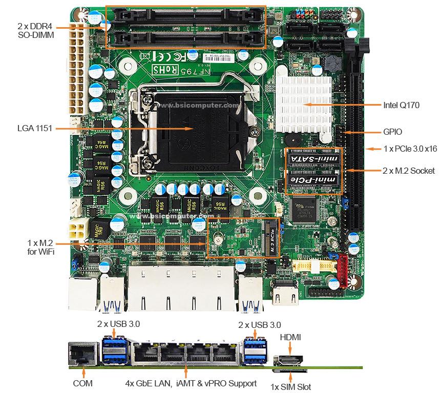 IMB-Q170J-ITXT2 MOTHERBOARD